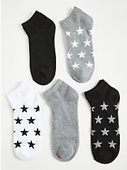 Multi Stars Ankle Socks - Pack of 5, MULTI, alternate