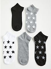 Multi Stars Ankle Socks - Pack of 5, MULTI, hi-res