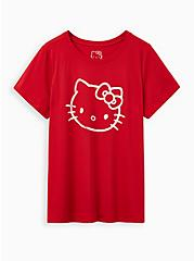 Slim Fit Crew Tee - Signature Jersey Hello Kitty Red, RED, hi-res