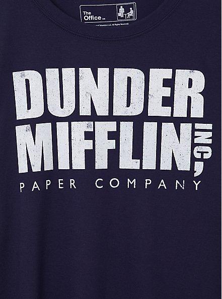 Classic Fit Crew Tee - Dunder Mifflin Navy, PEACOAT, alternate