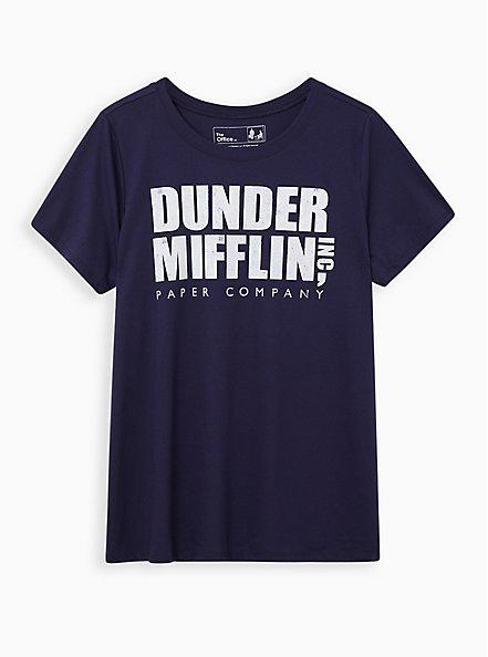 Classic Fit Crew Tee - Dunder Mifflin Navy, PEACOAT, hi-res