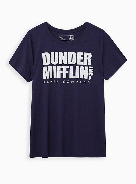Classic Fit Crew Tee - Dunder Mifflin Navy, , hi-res