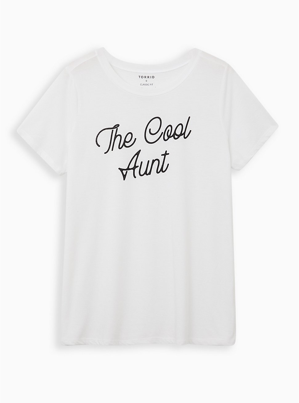 Everyday Tee - Signature Jersey White Cool Aunt, BRIGHT WHITE, hi-res