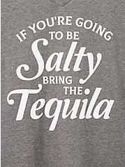 Girlfriend Tee - Signature Jersey Grey Salty Tequila, MEDIUM HEATHER GREY, alternate