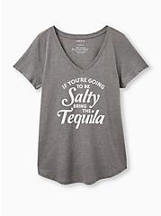 Girlfriend Tee - Signature Jersey Grey Salty Tequila, MEDIUM HEATHER GREY, hi-res