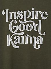 Everyday Tee - Signature Jersey Olive Good Karma, DEEP DEPTHS, alternate