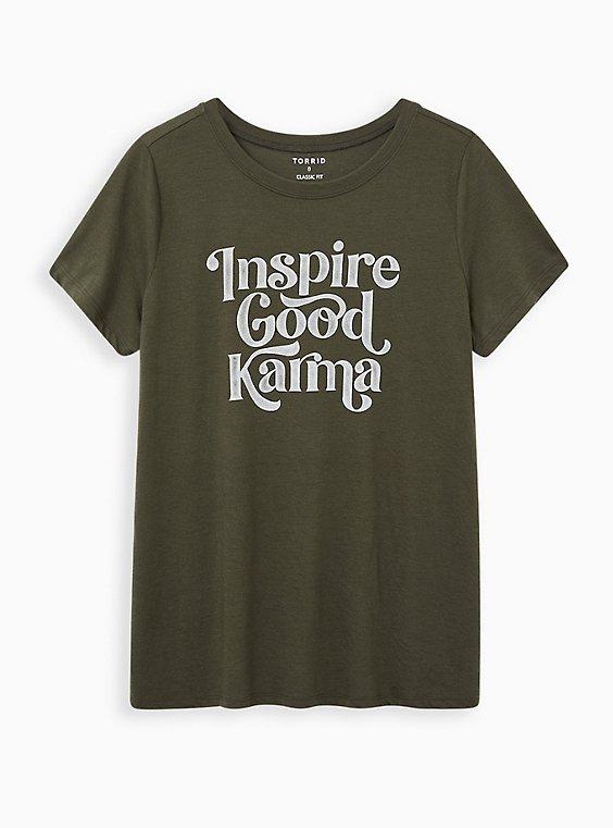 Everyday Tee - Signature Jersey Olive Good Karma, DEEP DEPTHS, hi-res