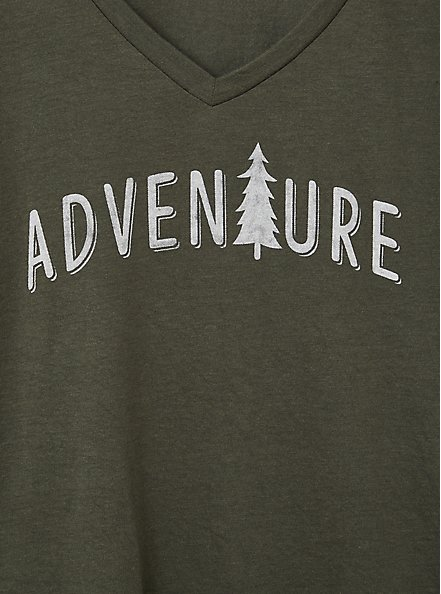 Girlfriend Tee – Signature Jersey Adventure Olive, DEEP DEPTHS, alternate