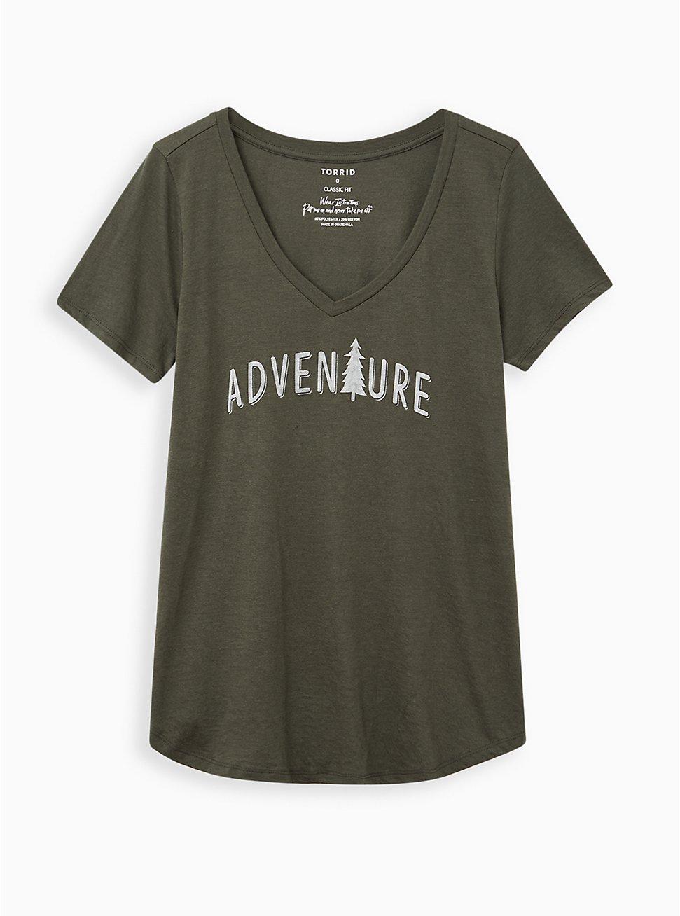 Girlfriend Tee – Signature Jersey Adventure Olive, DEEP DEPTHS, hi-res
