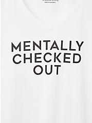 Girlfriend Tee - Signature Jersey Mentally Checked Out White, BRIGHT WHITE, alternate