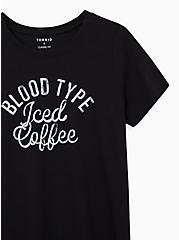 Everyday Tee - Signature Jersey Iced Coffee Black, DEEP BLACK, alternate