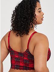 Bralette - Lace Plaid Red, TARTAN PLAID, alternate