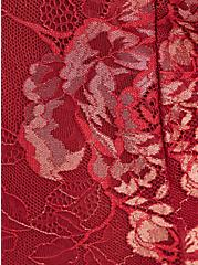 Plus Size Underwire Bustier - Lace Red & Gold, BIKING RED, alternate