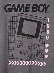 Slim Fit Crew Tee - Game Boy Grey, MEDIUM HEATHER GREY, alternate