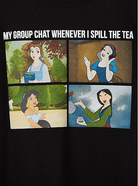 Slim Fit Crew Tee - Signature Jersey Disney Princess Tea Meme, DEEP BLACK, alternate