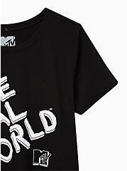 Slim Fit Crew Tee - The Real World Black , DEEP BLACK, alternate
