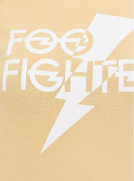 Classic Fit Crew Tee - Foo Fighters Mustard Yellow, MUSTARD HEATHER, alternate