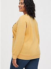 Plus Size Sweatshirt - Fleece Yellowstone Yellow, GOLDEN YELLOW, alternate