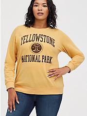 Plus Size Sweatshirt - Fleece Yellowstone Yellow, GOLDEN YELLOW, hi-res