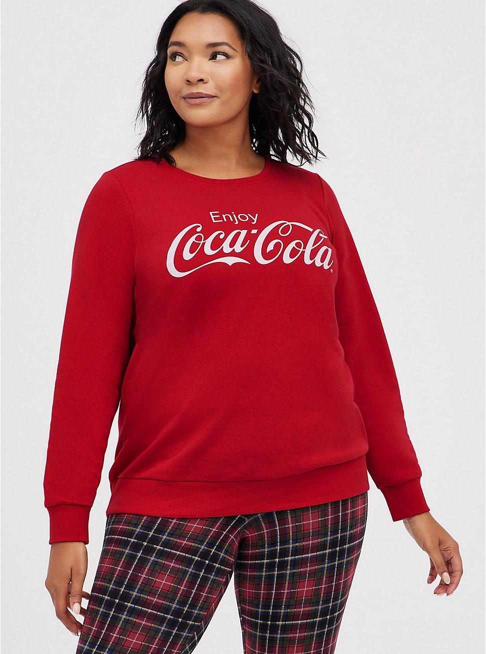 Sweatshirt - Fleece Coca Cola Red, JESTER RED, hi-res