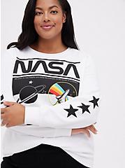 Sweatshirt - Fleece Nasa White, BRIGHT WHITE, alternate