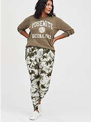 Plus Size Sweatshirt - Fleece Yosemite Dusty Olive, DEEP DEPTHS, alternate
