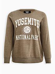 Plus Size Sweatshirt - Fleece Yosemite Dusty Olive, DEEP DEPTHS, hi-res