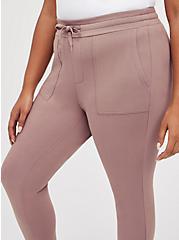 Plus Size Classic Fit Jogger - Ultra Soft Fleece Purple , PURPLE, alternate