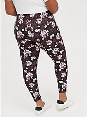 Pixie Pant - Luxe Ponte Floral Skull Black with Slim Fix Technology, MULTI, alternate