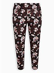 Pixie Pant - Luxe Ponte Floral Skull Black with Slim Fix Technology, MULTI, hi-res