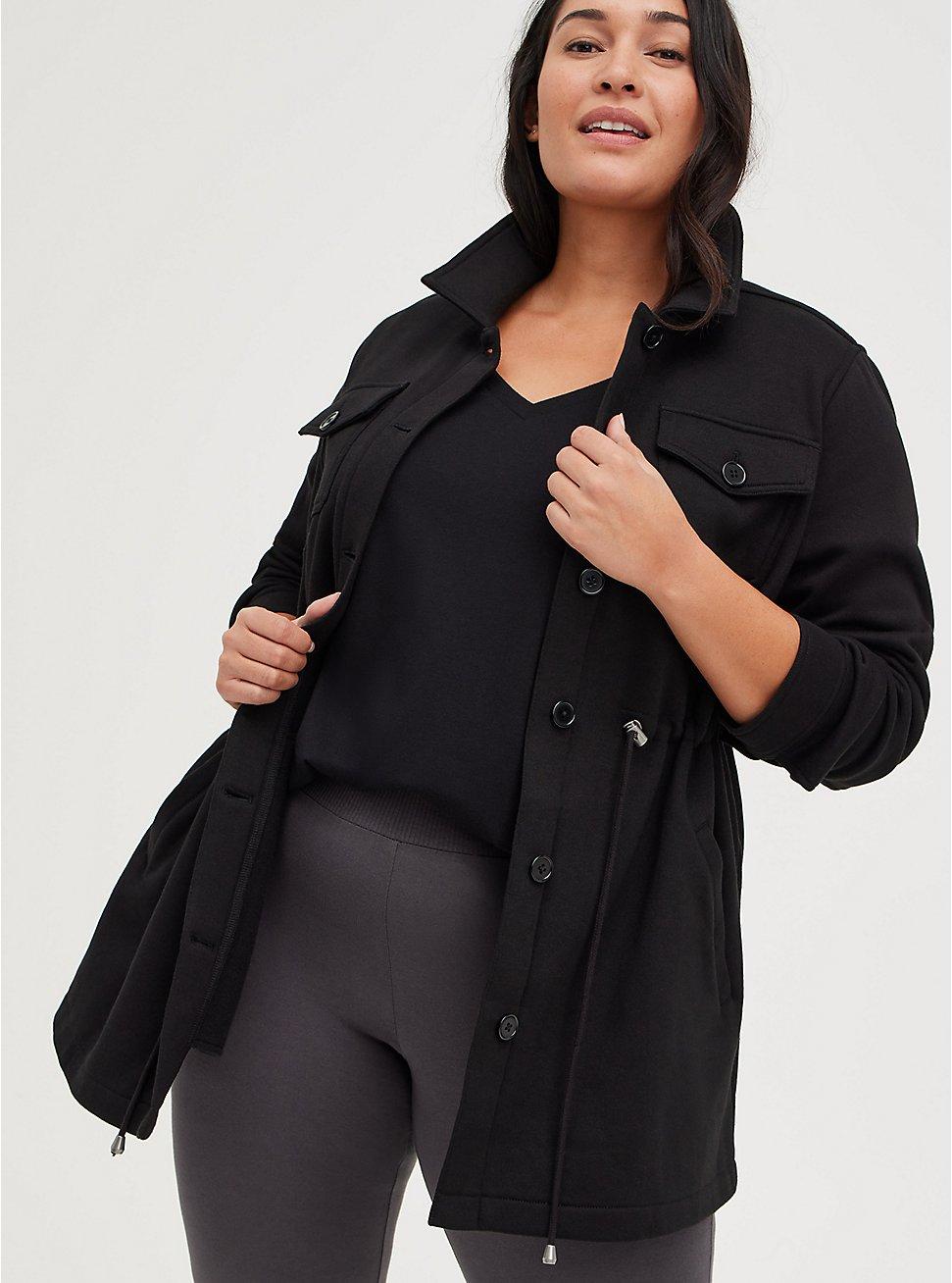 Shacket - Fleece Black, DEEP BLACK, hi-res