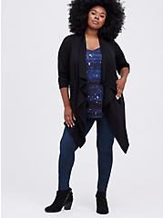 Drape Kimono - Brushed Ponte Black, DEEP BLACK, alternate