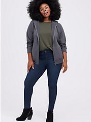 Zip-Up Hoodie - Ultra Soft Fleece Grey, GREY, alternate