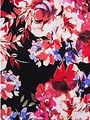 Plus Size Skater Midi Dress - Studio Knit Lace Floral Black, FLORAL - BLACK, alternate