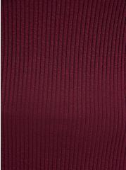 Plus Size Henley Bodycon Sweater Dress - Wine, ZINFANDEL, alternate