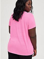 Plus Size Vintage Tee - Triblend Jersey Leopard Lips Hot Pink, PINK GLO, alternate