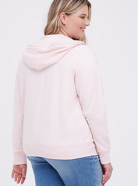 Zip-Up Hoodie - Ultra Soft Fleece Pink, PINK, alternate