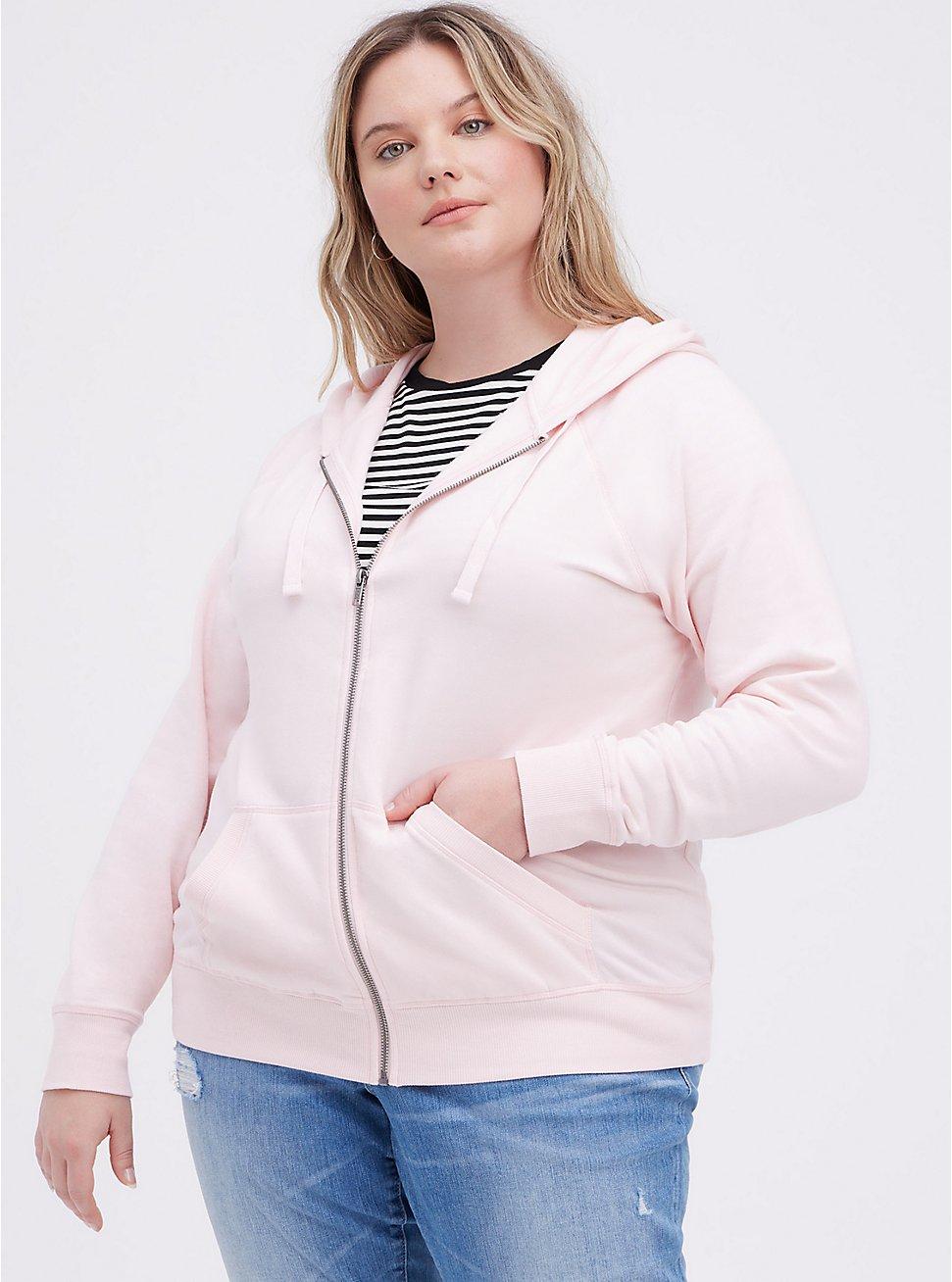 Zip-Up Hoodie - Ultra Soft Fleece Pink, PINK, hi-res