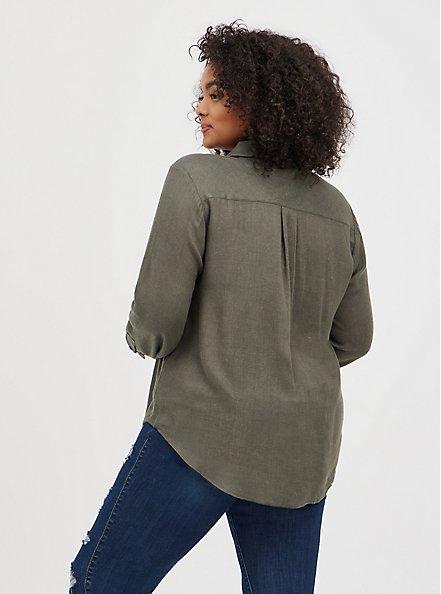 Pocket Shirt - Brushed Olive, DEEP DEPTHS, alternate