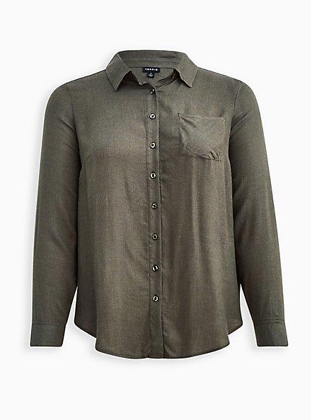 Pocket Shirt - Brushed Olive, DEEP DEPTHS, hi-res
