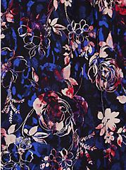Plus Size Cold Shoulder Blouse - Georgette Floral Black, FLORAL - BLACK, alternate