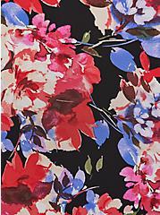 Sophie - Chiffon Floral Swing Cami Black , FLORAL - BLACK, alternate