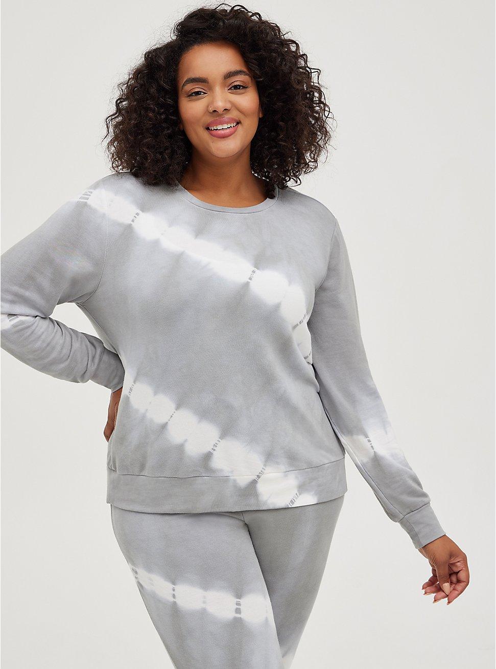 Sleep Sweatshirt - Micro Modal Tie Dye Grey, MULTI, hi-res