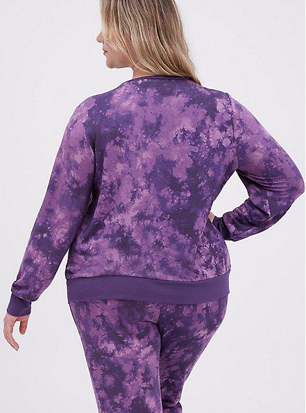 Sleep Sweatshirt - Micro Modal Tie Dye Purple, MULTI, alternate