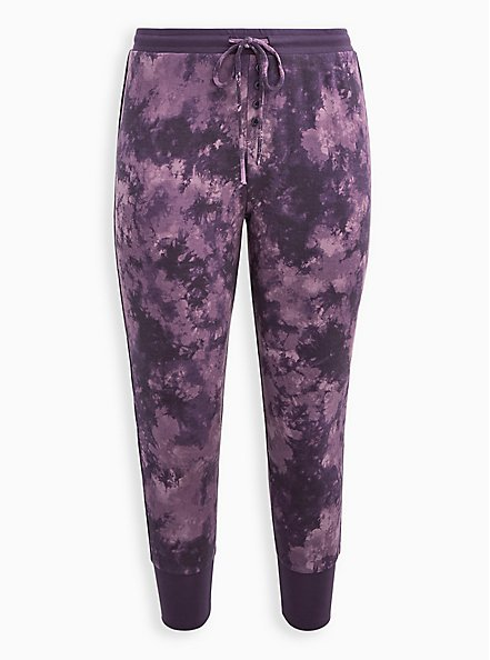 Sleep Legging - Micro Modal Tie Dye Purple, MULTI, hi-res