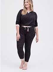 Sleep Sweatshirt - Super Soft Plush Leopard Black, MULTI, alternate