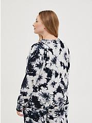 Sleep Sweatshirt - Micro Modal Tie Dye Black & White, MULTI, alternate