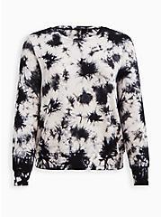 Sleep Sweatshirt - Micro Modal Tie Dye Black & White, MULTI, hi-res