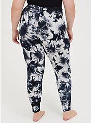 Sleep Legging - Micro Modal Tie Dye Black & White, MULTI, alternate