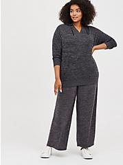 Plus Size Wide Leg Sleep Pant - Super Soft Plush Grey, CHARCOAL  GREY, alternate